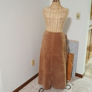 NEW! High waisted Leather Willi Smith Long skirt